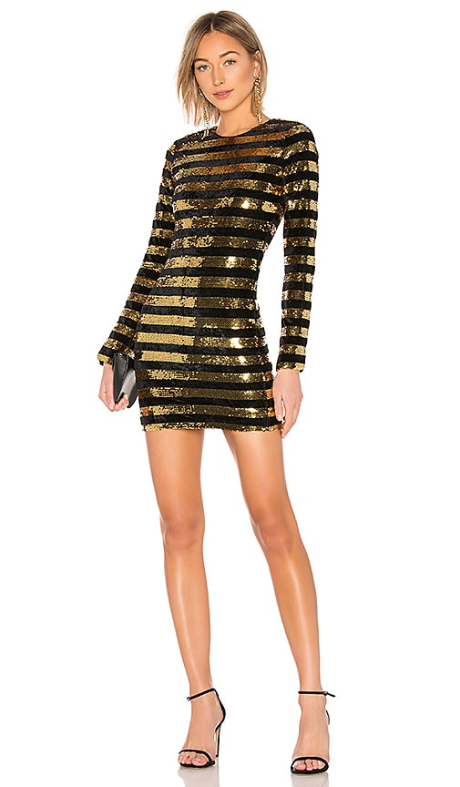 7b80478e RtA Crystal Dress in Goldstreak | REVOLVE