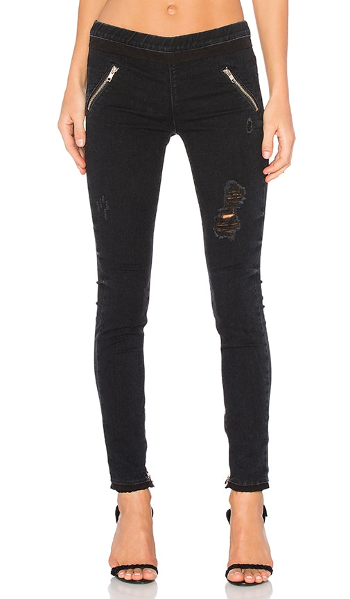 RtA Mila Legging Pant in Black Destroy