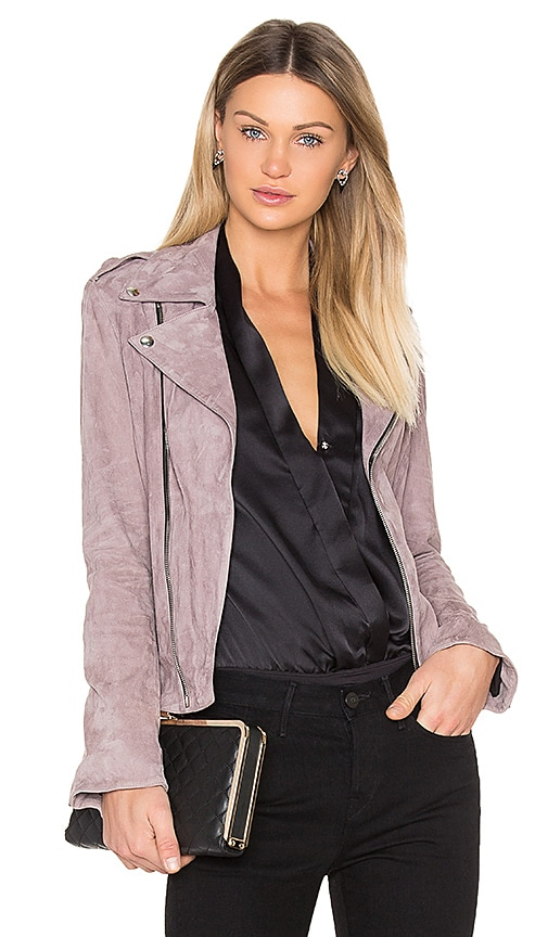RtA Nico Moto Jacket in Pink