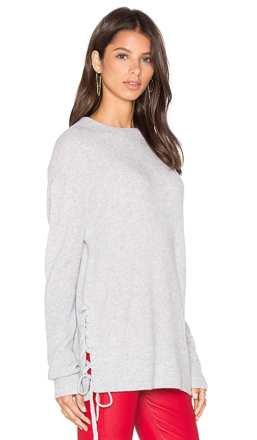 RtA Arianne Lace Side Sweatshirt in Gray