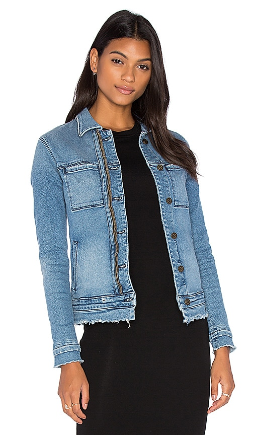 RtA Rene Denim Jacket in Livid