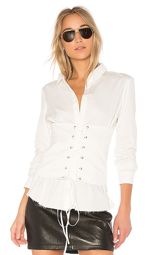 RtA Jeanine Corset Top in White