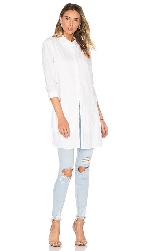 RtA Marie Button Up Dress in White