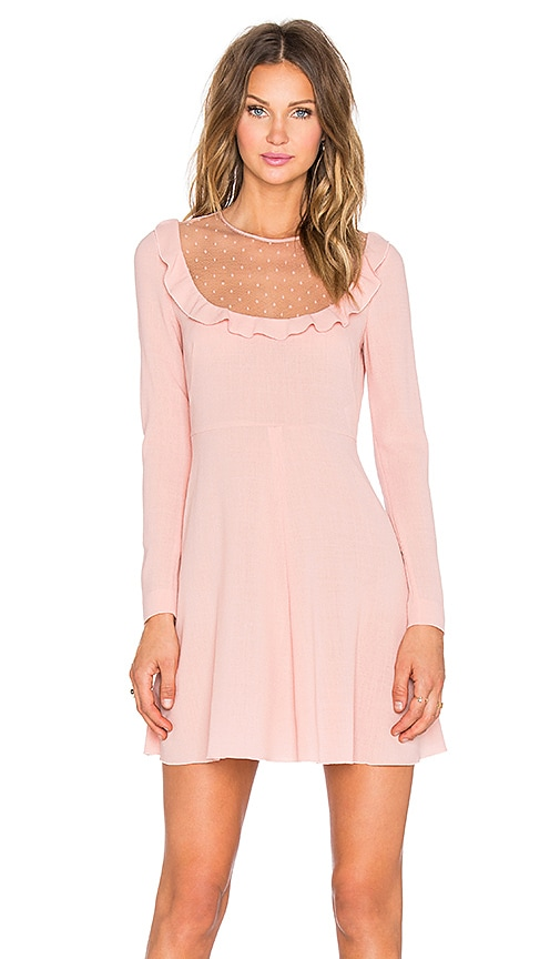 Red Valentino Sheer Yoke Mini Dress in Nudo