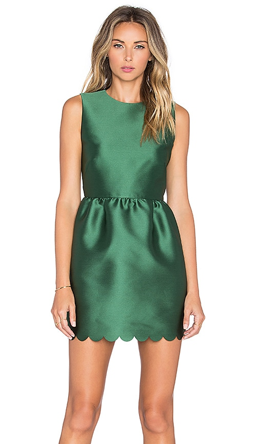 Red Valentino Fit and Flare Dress in Verde
