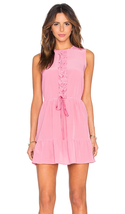Red Valentino Ruffle Tank Dress in Pink