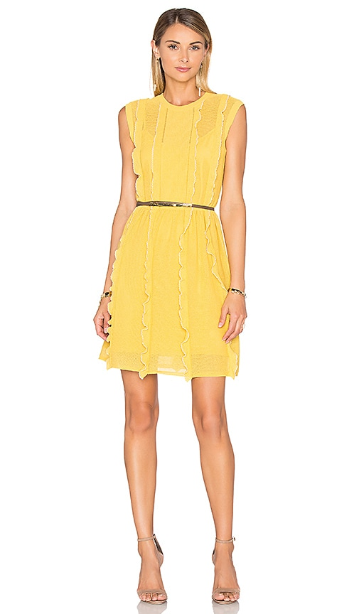 Red Valentino Pointelle Tank Dress in Yellow Multi