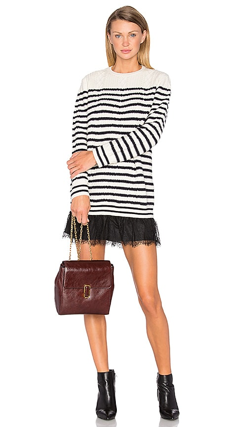 Red Valentino Striped Sweater Dress in Ivory