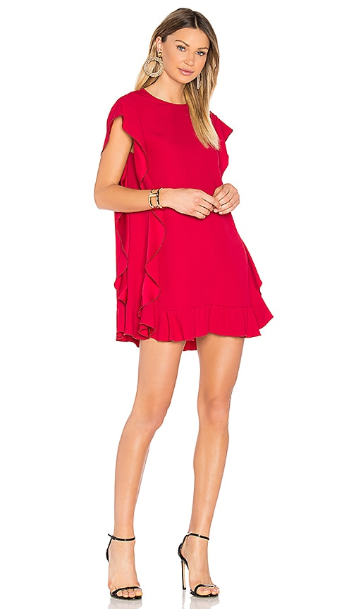 ruffled cape dress - Red Valentino A7AFNiTY3w
