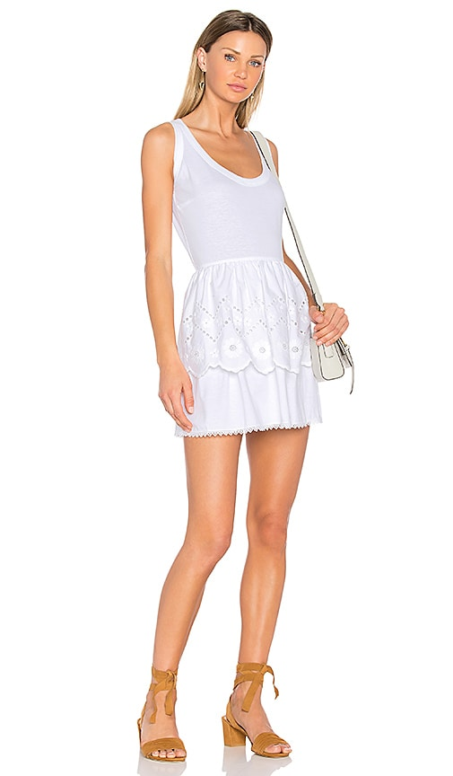 Red Valentino Fit & Flare Mini Dress in White
