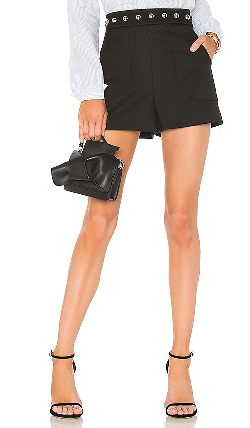 Red Valentino Studded Short in Black