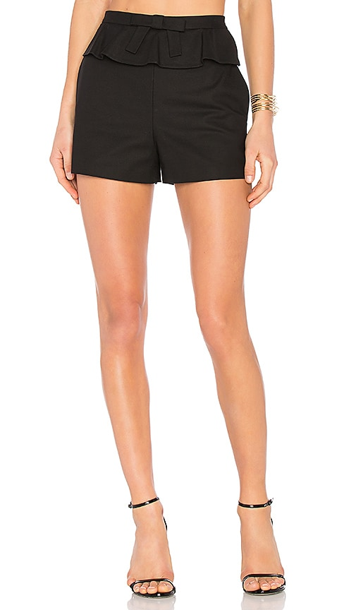 Red Valentino Ruffle Shorts in Black
