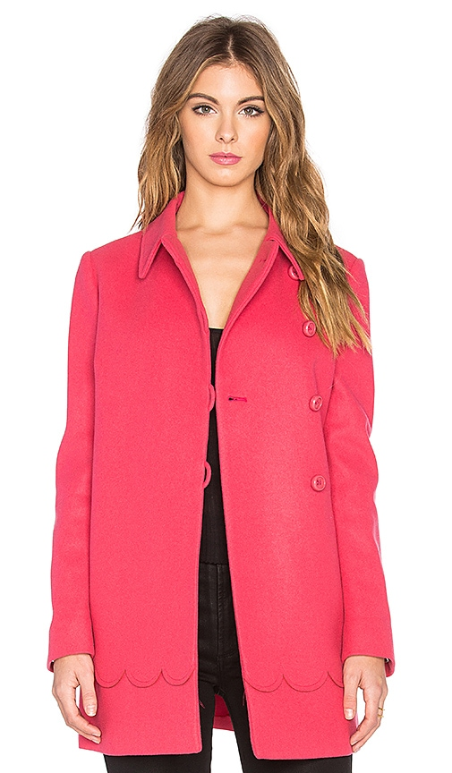 Scalloped A-Line Coat