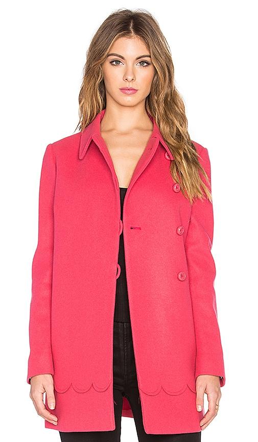 Scalloped A-Line Coat