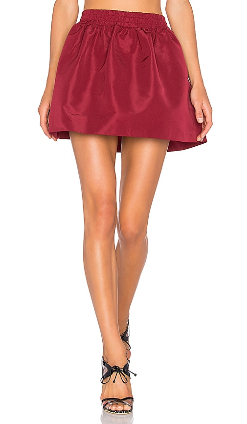 Red Valentino Circle Skirt in Burgundy