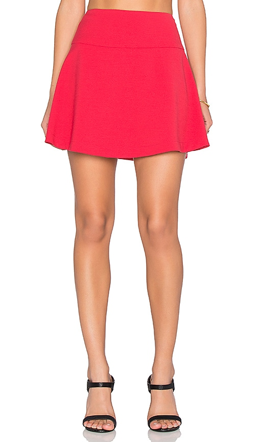 Red Valentino A-Line Mini Skirt in Red