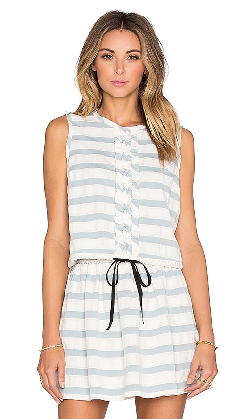 Red Valentino Stripe Crew Neck Tank in Blue