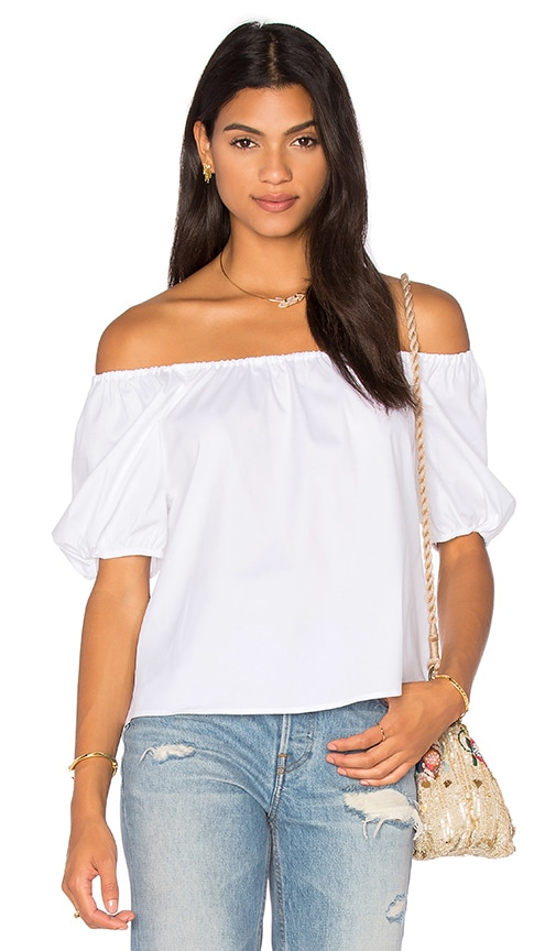 Red Valentino Off the Shoulder Top in White