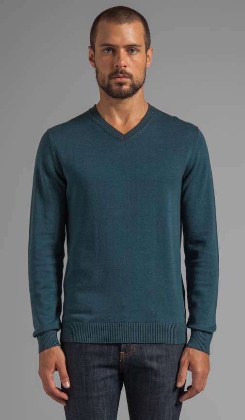 Plate Sweater Pullover V Neck