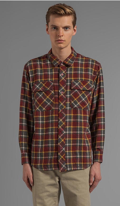 X Alex Knost Signature Collection New Natural L/S Plaid Button Down