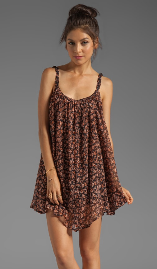 Armonk Sleeveless Paisley Print Dress with Asymmetrical Hem
