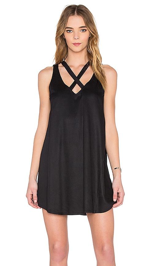 RVCA Visions V Neck Mini Dress in Black