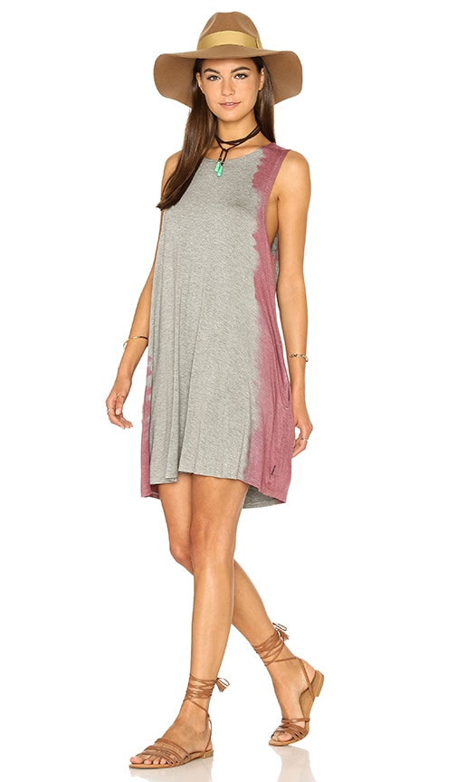 RVCA Sucker Punched Dress in Gray