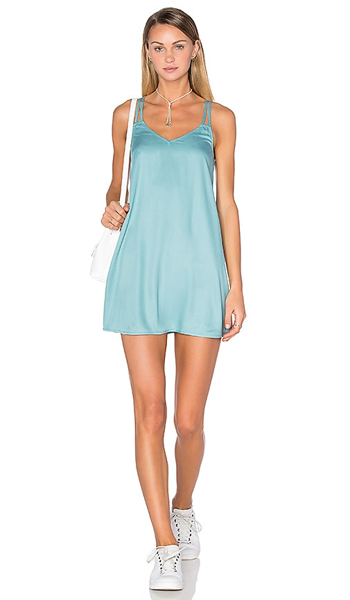 RVCA Sims Dress in Turquoise