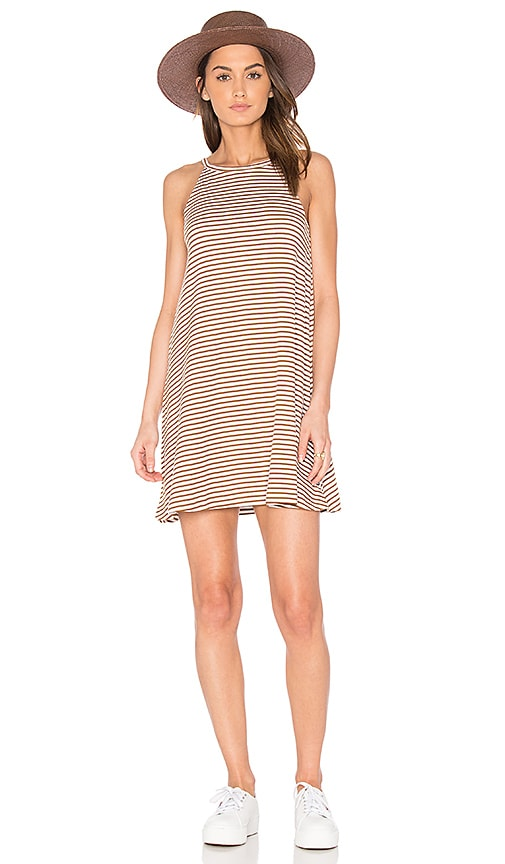 RVCA Shellox Dress in Brown