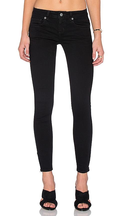RVCA Lately Skinny Jean in Black Overdye