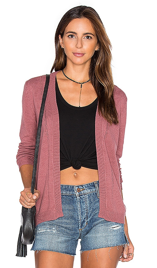 RVCA Sayso Cardigan in Rose