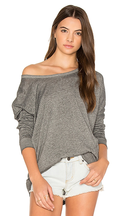 RVCA Label Dolman Pullover in Gray
