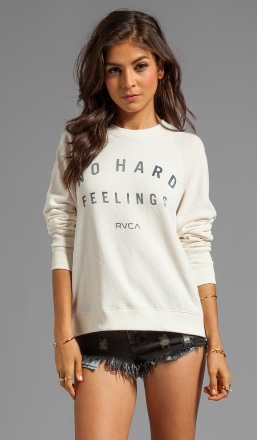 No Hard Feelings Graphic French Terry Raglan Crew