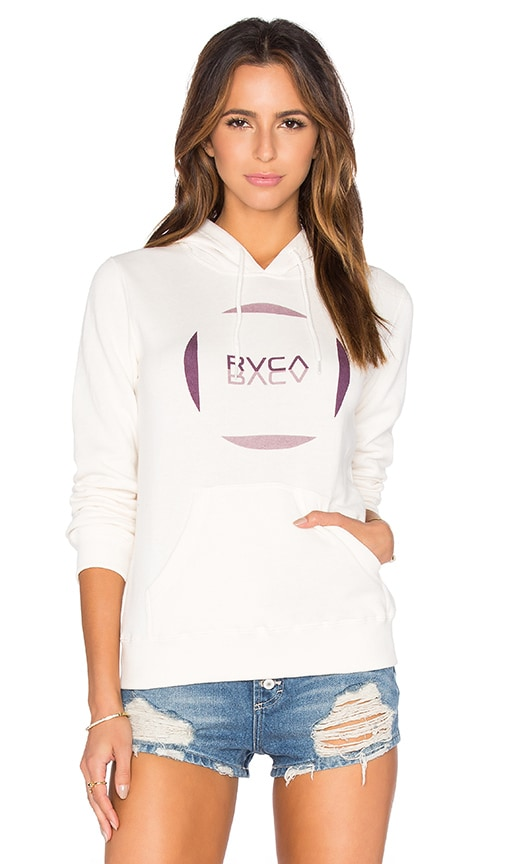RVCA Reflect Hoodie in Vintage White