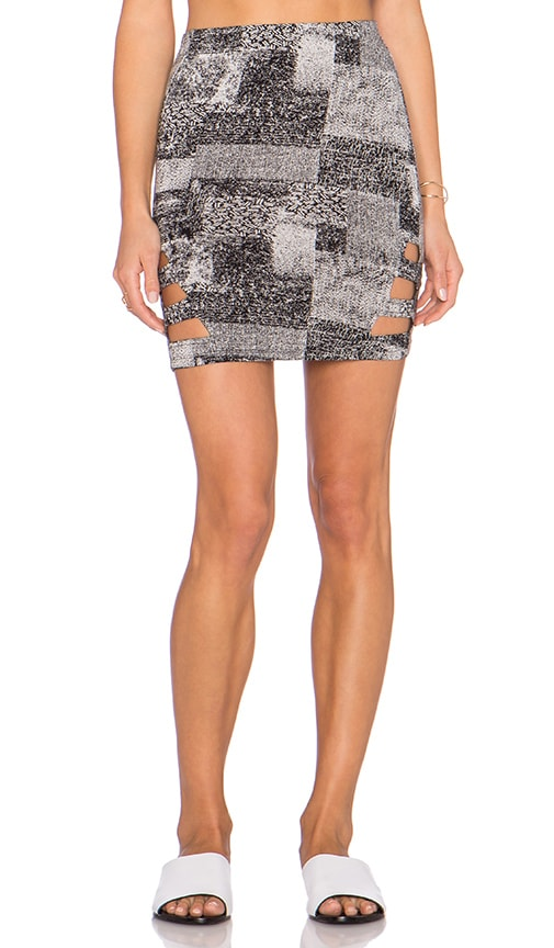 RVCA Feelin Vibed Cut out Skirt in Black