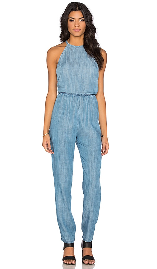 4be102fb78d4 RVCA Be About It Jumpsuit in Chambray