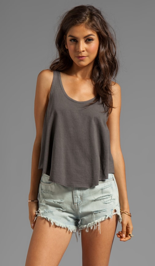 Label Drape Jersey Loose Fit Tank