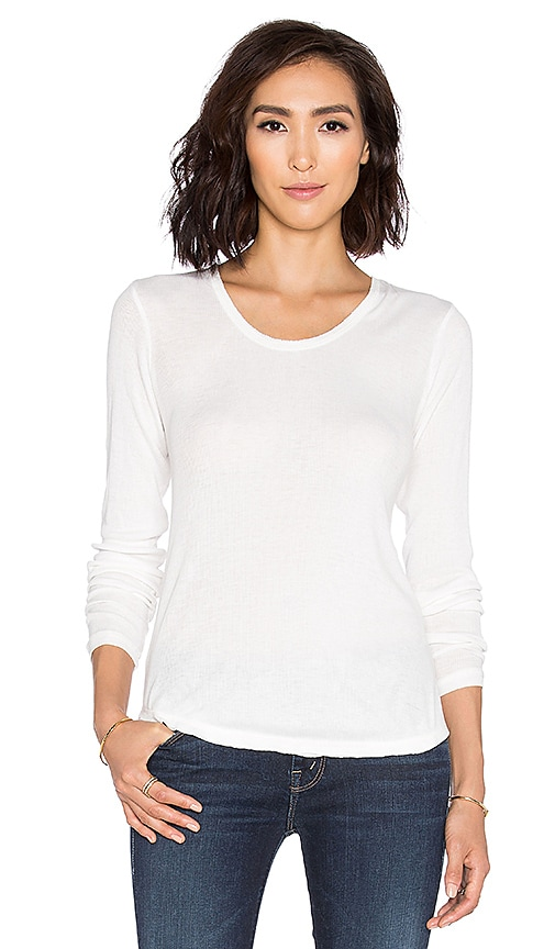 RVCA Base Layer Long Sleeve Top in Vintage White