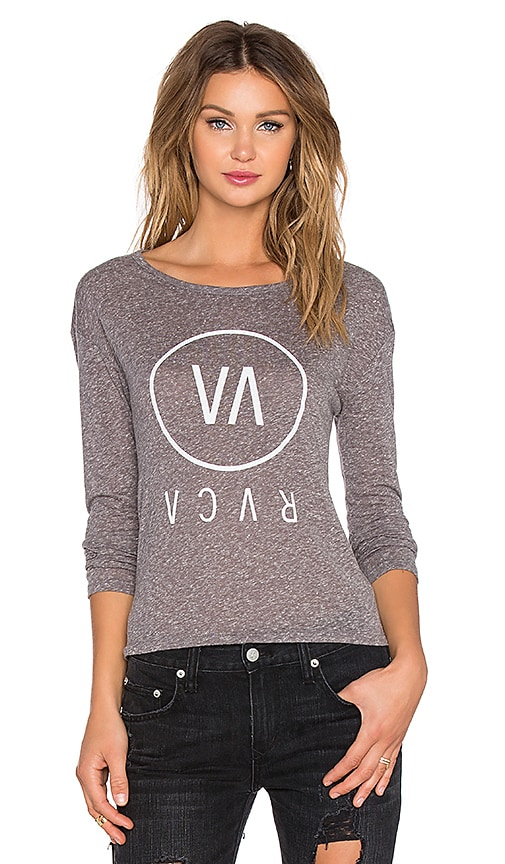 RVCA High End Long Sleeve Top in Athletic Heather