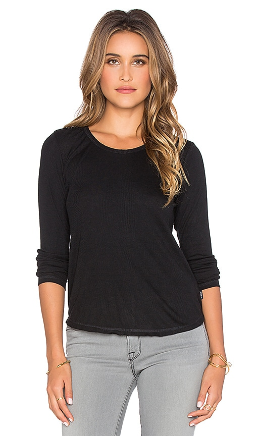 RVCA Base Layer Long Sleeve Top in Black