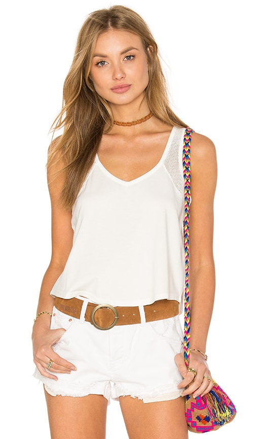 RVCA Keltex Tank in White
