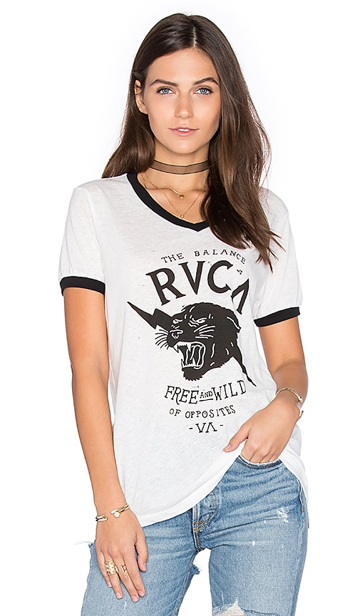 RVCA Free & Wild Tee in White
