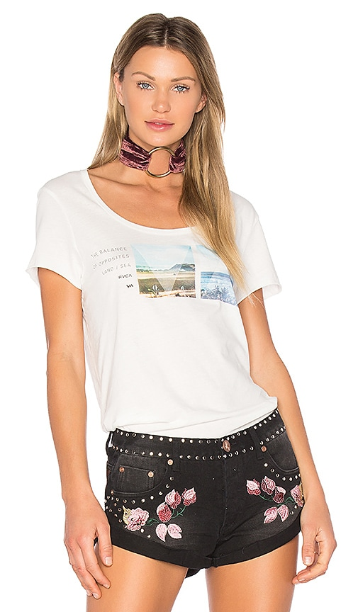 RVCA Refraction Opposites Tee in White