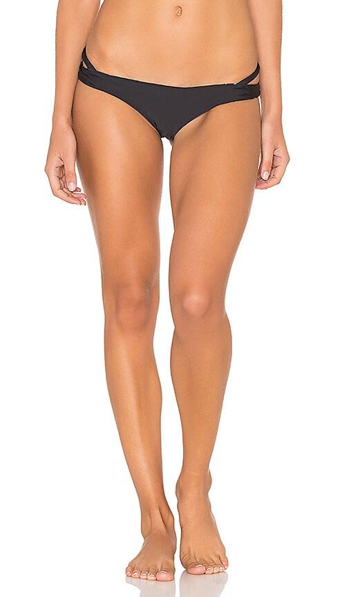 RVCA Bold Rose Skimpy Bikini Bottom in Black & White