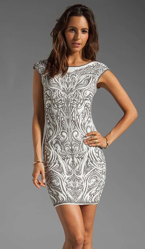 Phoenix Embroidery Jacquard Dress