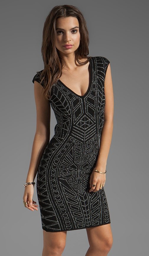 Abstract Jacquard Mini Dress
