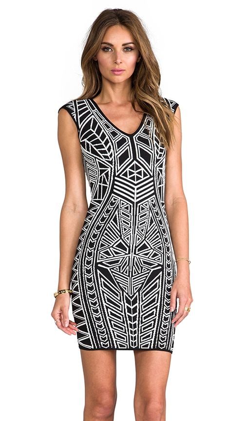 Abstract 3D Jacquard Dress