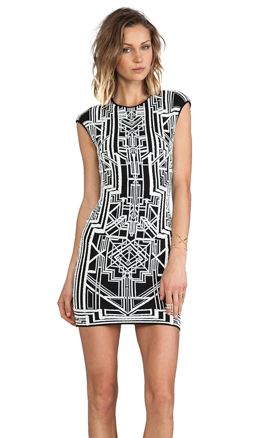 Tron 3D Jacquard Dress