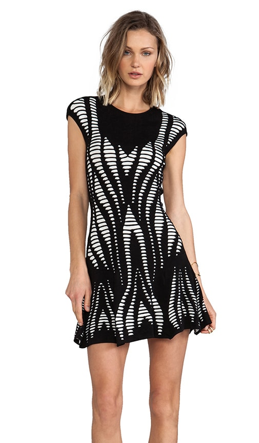 Cutout Illusion Skater Dress
