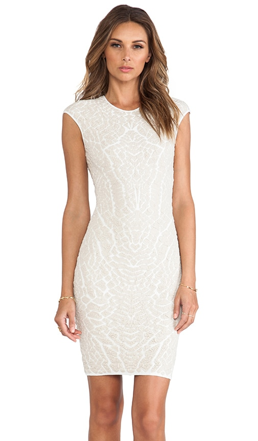 Alligator Jacquard Sheath Dress